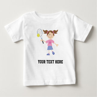 Tennis Player (Future) Personalized Baby T-Shirt