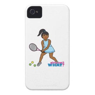 Tennis Player Girl - Dark iPhone 4 Case-Mate Case