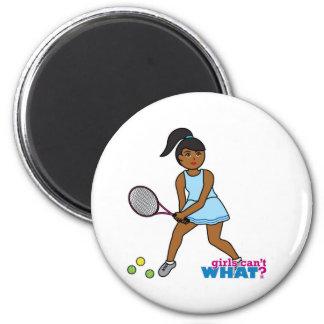 Tennis Player Girl - Dark Fridge Magnet