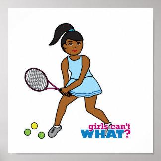 Tennis Player Girl - Dark Print