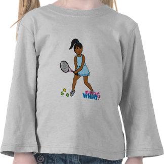 Tennis Player Girl - Dark T Shirts