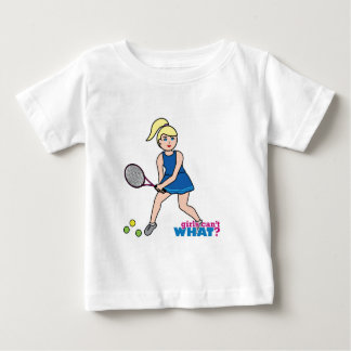 Tennis Player Girl - Light/Blonde Baby T-Shirt