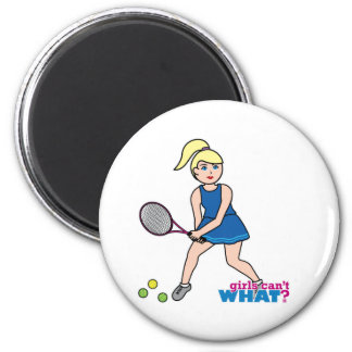 Tennis Player Girl - Light/Blonde Fridge Magnet
