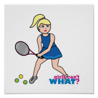 Tennis Player Girl - Light/Blonde Poster