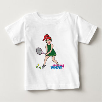Tennis Player Girl - Light/Red Baby T-Shirt