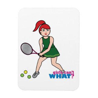 Tennis Player Girl - Light/Red Vinyl Magnets