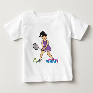 Tennis Player Girl - Medium Baby T-Shirt