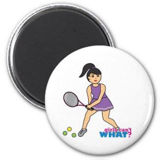 Tennis Player Girl - Medium Magnet