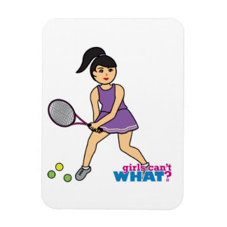 Tennis Player Girl - Medium Rectangular Magnet