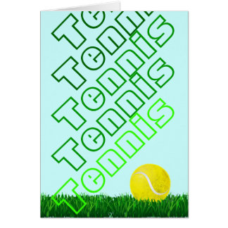 tennis player happy Birthday personalized Card