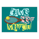 Tennis player, Happy Birthday, personalized Card