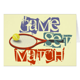 Tennis player happy Birthday personalized Greeting Card