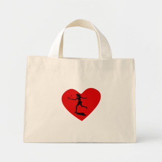 Tennis Player Heart Canvas Bags