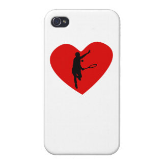 Tennis Player Heart iPhone 4/4S Cases