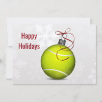 tennis player Holiday Greeting Cards
