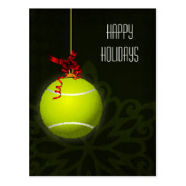 tennis player Holiday greeting Postcard