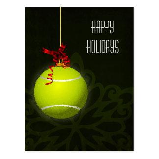 tennis player Holiday greeting Postcard