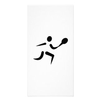 Tennis player icon photo card