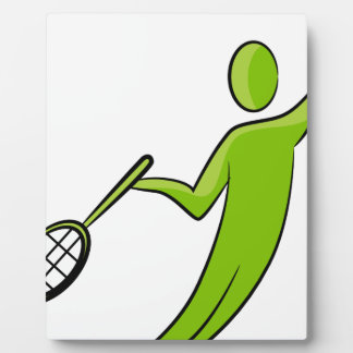 Tennis Player Icon Plaque