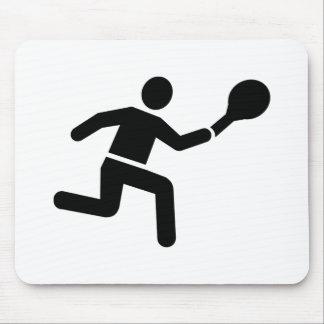 Tennis player logo mouse pad