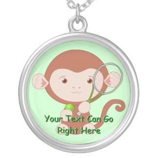 Tennis Player Monkey Necklace