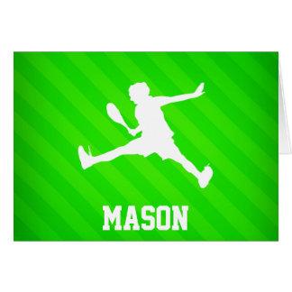 Tennis Player; Neon Green Stripes Card