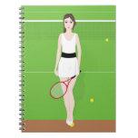 Tennis Player Notebook