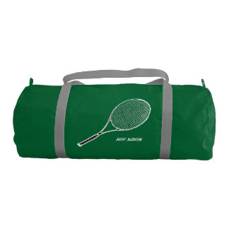 tennis player personalized duffle bag