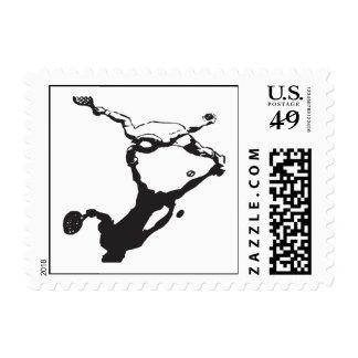 Tennis Player Postage Stamp