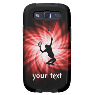 Tennis Player; Red Galaxy S3 Case