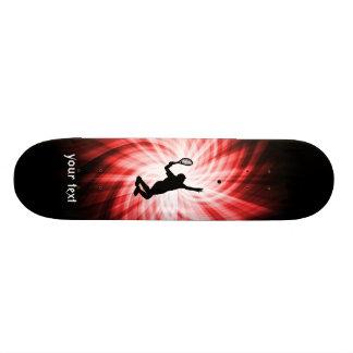 Tennis Player; Red Skateboard