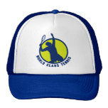 tennis player silhouette serving hats