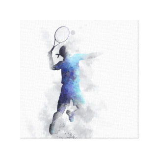 TENNIS PLAYER - Stretched Canvas Print