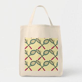 Tennis Player Theme Design Tote Bag