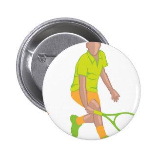Tennis Player vector 2 Inch Round Button