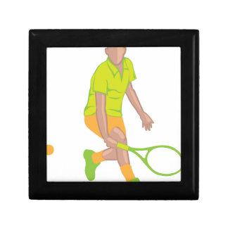 Tennis Player vector Gift Box
