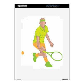 Tennis Player vector iPad 2 Skin