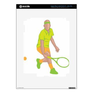 Tennis Player vector iPad 3 Skins