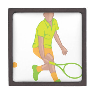 Tennis Player vector Keepsake Box