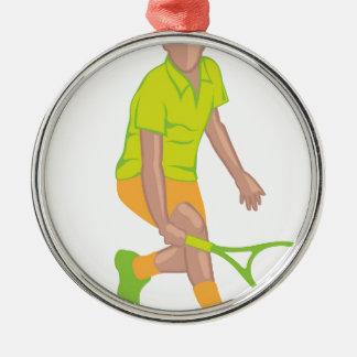 Tennis Player vector Metal Ornament