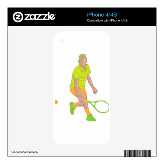 Tennis Player vector Skin For The iPhone 4