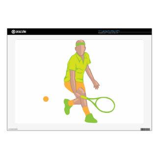Tennis Player vector Skins For Laptops