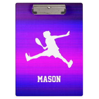 Tennis Player; Vibrant Violet Blue and Magenta Clipboards