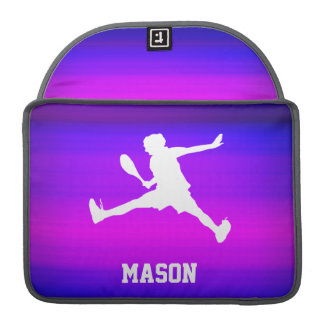 Tennis Player; Vibrant Violet Blue and Magenta Sleeves For MacBook Pro