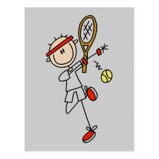 Tennis Player with Racquet Tshirts and Gifts Postcard
