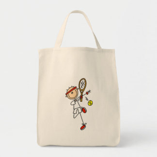 Tennis Player with Racquet Tshirts and Gifts Tote Bag