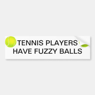 Tennis Players Bumper Sticker