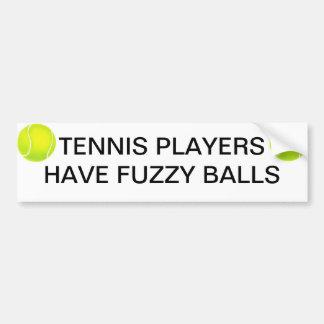 Tennis Players Car Bumper Sticker
