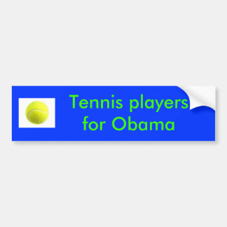 Tennis players for Obama Car Bumper Sticker
