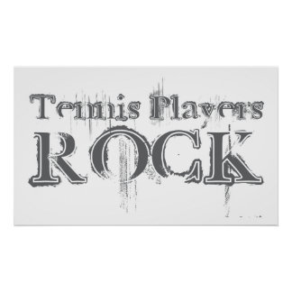 Tennis Players Rock Poster